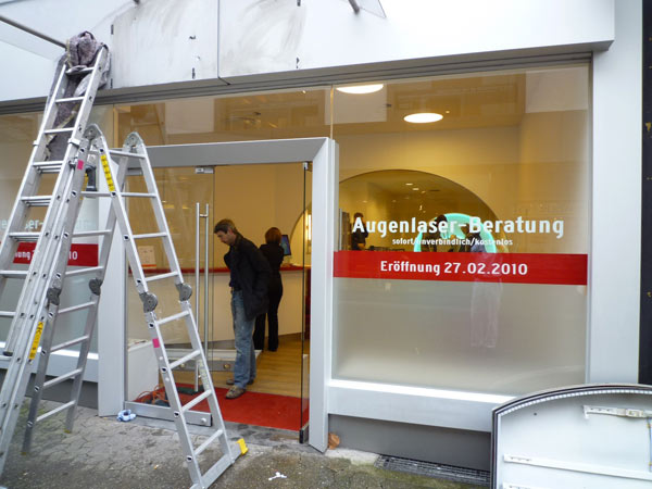 Malerarbeiten im Lasikpoint in Krefeld