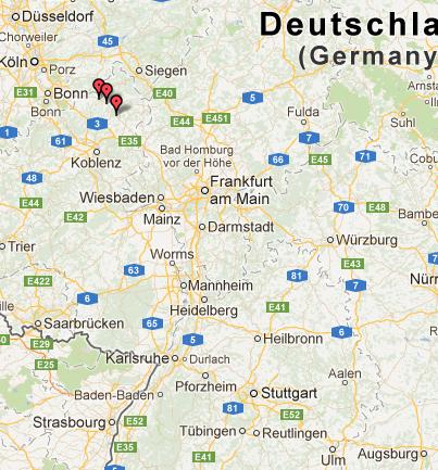 Karte des Schreckens