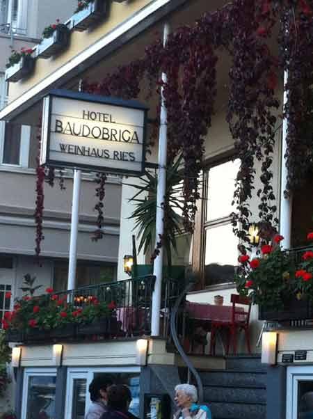 Für Fortuna nach Mainz! Etappenziel Boppard, Hotel Baudobriga