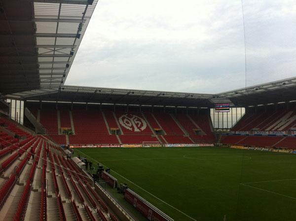 Für Fortuna nach Mainz! Ankunft am Stadion