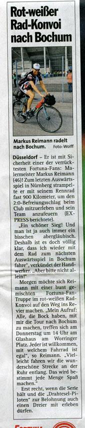 Einladung zur Fahrt nach Bochum im Express!