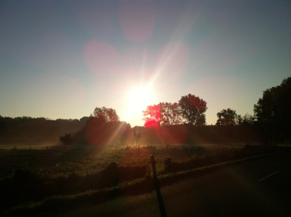 Für Fortuna nach Darmstadt - Irgendwo bei Urdenbach, schönstes Wetter für eine Mordstour