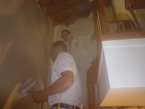 Renovierung eines Treppenhauses