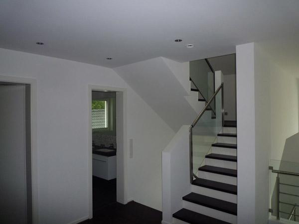 Farbliche Gestaltung eines Wohnraumes