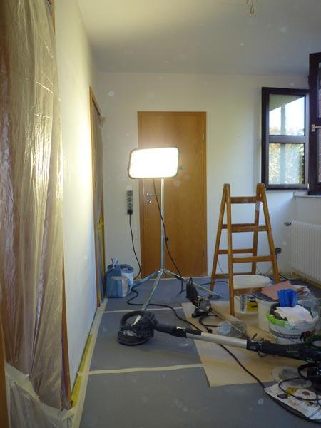 Malerarbeiten im Urlaub