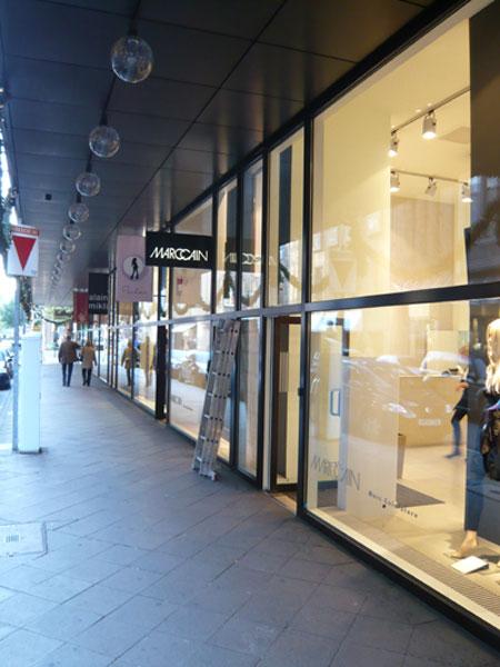 Malerarbeiten bei Marc Cain in Düsseldorf